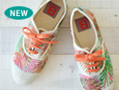 BENSIMON(ベンシモン)Tennis Lacet(テニスシューズ)Feuilles Exotiques Multi