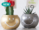 Fabric mie(ファブリックミー)ROUND GLASS PLANTER SMILEY FACE