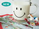 Fabric mie(ファブリックミー)VERSAILLES MUG SMILEY FACE250cc CLEAR(クリア)
